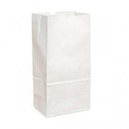 Sac en papier Kraft Blanc sans anses 12+8x24cm (1000 Unités)