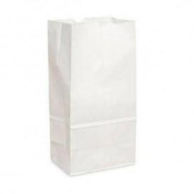 Sac en papier Kraft Blanc sans anses 15+9x28cm (25 Unités)