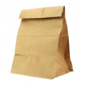 Papieren zak zonder handvat kraft 22+12x30cm (1000 stuks)