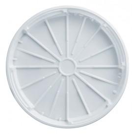 Plastic Deksel PS voor Pizza wit 32 cm (200 stuks)