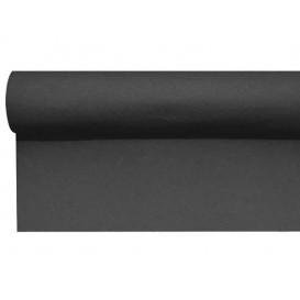 Airlaid tafelloper zwart 0,4x48m P1,2m (1 stuk)