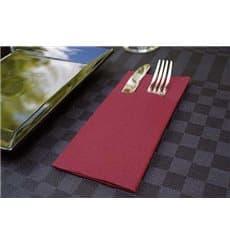 """Zakvouw airlaid servetten """"Kanguro"""" bordeauxrood 40x40cm (480 eenheden)"""