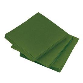 Serviette en Papier Micro Point 20x20cm Vert (2.400 Utés)