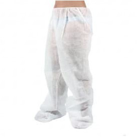 Pantalon Pressothérapie PP non Tissé Plastifié Blanc (100 Utés)