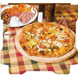 Boîtes à Pizza Al Bassanello Tavola 26x26x4,2 cm (100 Utés)