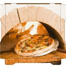 Boîtes à Pizza Al Bassanello Forno 26x26x4,2 cm (100 Utés)