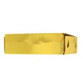Papier bakkerij doos goud 11x6,5x2,5cm 100g (100 stuks)