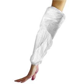 Wegwerp plastic Over omhulsel PE wit G80 18x44cm (100 stuks)