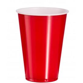 Gobelet Plastique Rouge en PS 10oz/300ml (50 Unités)