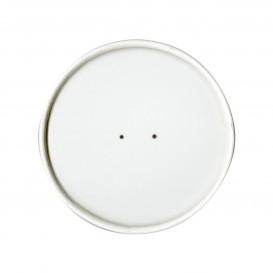 Couvercle Plat en Papier Blanc Ø9,8cm (25 Unités)