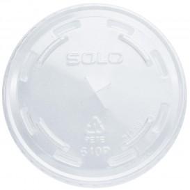 Plastic platte Deksel met kruis PET kristal Ø7,8cm (100 stuks)
