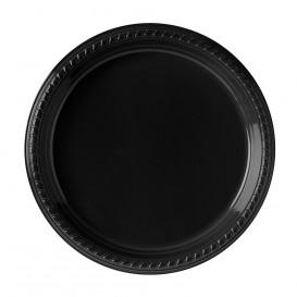 Assiette Plastique Party PS Plate Noir Ø260mm (500 Unités)