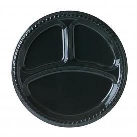 Assiette Plastique Party PS Plate Noir 3C Ø260mm (25 Unités)