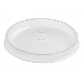 Plastic Deksel PP Plat transparant Ø9,1cm (50 stuks)