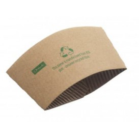 Bague pour Gobelet Carton Ondulé 12 et 16 Oz (1.000 Unités)