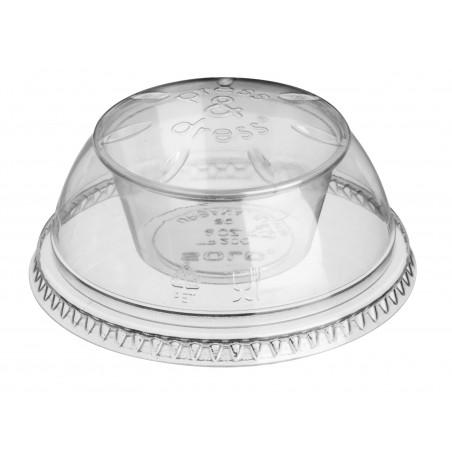 """Dôme avec Coupe PET Cristal """"Press&Dress"""" Ø9,2cm (500 Utés)"""
