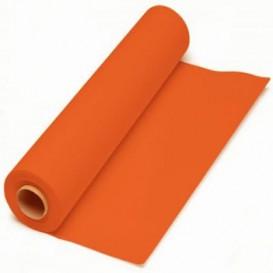 Papieren tafelkleed rol oranje 1x100m. 40g (6 stuks)