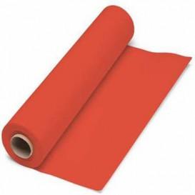 Papieren tafelkleed rol rood 1x100m. 40g (6 stuks)