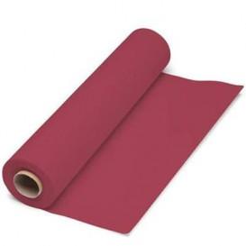 Papieren tafelkleed rol bordeauxrood 1x100m. 40g (6 stuks)