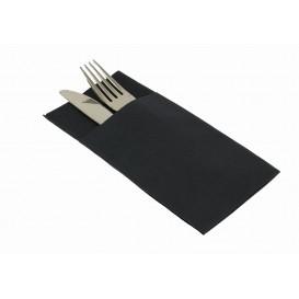 """Zakvouw airlaid servetten """"Kanguro"""" zwart 40x40cm (480 stuks)"""