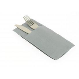 """Zakvouw airlaid servetten """"Kanguro"""" grijs 40x40cm (480 stuks)"""