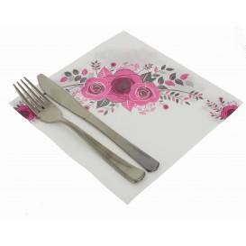"""Serviette en papier molletonnée """"Bouquet"""" 40x40cm (600 Unités)"""