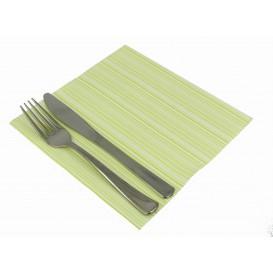 """Serviette en papier molletonnée """"Basic Pistache"""" 40x40cm (600 Unités)"""