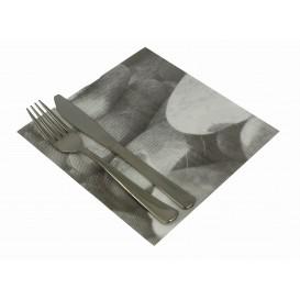 """Serviette en papier molletonnée """"Zen"""" 40x40cm (600 Unités)"""