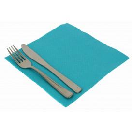 Serviette Papier molletonnée Turquoise 40X40cm (1200 Utés)
