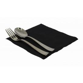 Papieren servet zwart 33x33cm 1-laags (70 stuks)
