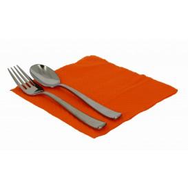Papieren servet oranje 33x33cm 1-laags (70 stuks)