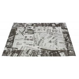 """Papieren Placemats 30x40cm """"Prensa"""" zwart 50g (500 stuks)"""