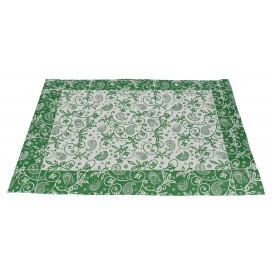 "Set de Table papier 30x40cm ""Cachemire"" Vert 50g (2500 Utés)"