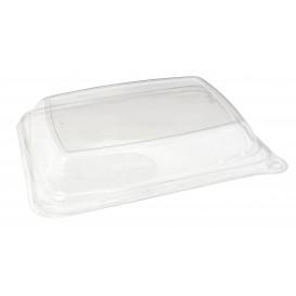 Plastic PET koepel Deksel voor Suikerriet brood Container 20x14x3cm (300 eenheden)