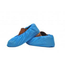Wegwerp plastic schoen omhulsel PE CPE G160 blauw (2000 stuks)