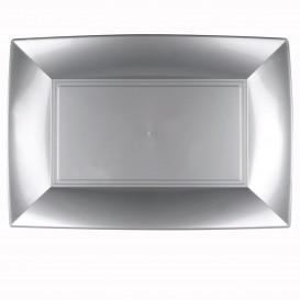 Plateau Plastique Gris Nice PP 345x230mm (30 Utés)