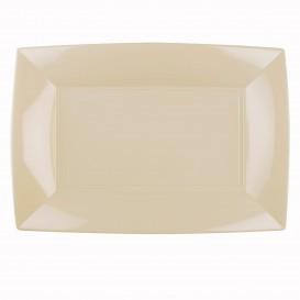 """Plastic dienblad microgolfbaar crème """"Nice"""" 34,5x23cm (6 stuks)"""
