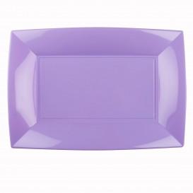 """Plastic dienblad microgolfbaar lila """"Nice"""" 34,5x23cm (6 stuks)"""