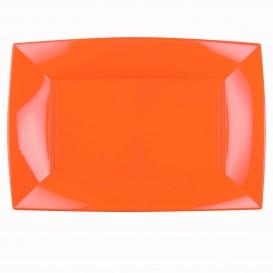 Plateau Plastique Orange Nice PP 345x230mm (6 Utés)