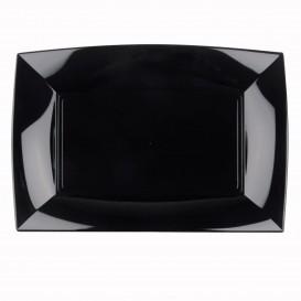 Plateau Plastique Noir Nice PP 345x230mm (6 Utés)
