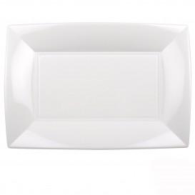 """Plastic dienblad microgolfbaar wit """"Nice"""" 34,5x23cm (60 stuks)"""