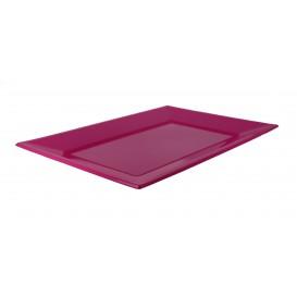 Plastic dienblad fuchsia 33x22,5cm (3 stuks)