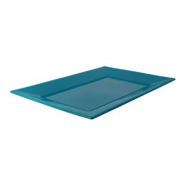 Plastic dienblad turkoois 33x22,5cm (180 stuks)