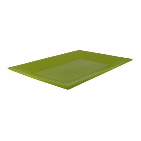 Plateau Plastique Pistache Rectang. 330x225mm (180 Utés)