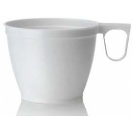 Plastic beker wit 180ml (1.000 stuks)