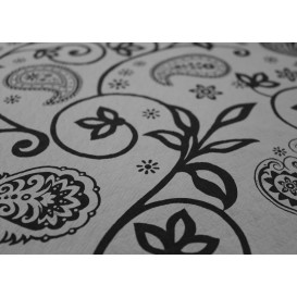 """Voorgesneden papieren tafelkleed """"Cachemir"""" zwart 37g 1x1m (400 eenheden)"""