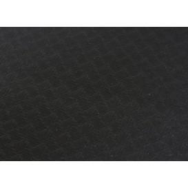 Voorgesneden papieren tafelkleed zwart 40g 1x1m (400 stuks)
