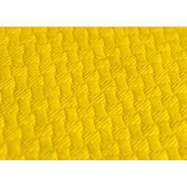 Voorgesneden papieren tafelkleed geel 40g 1x1m (400 eenheden)