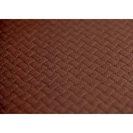 Voorgesneden papieren tafelkleed bruin 40g 1x1m (400 eenheden)
