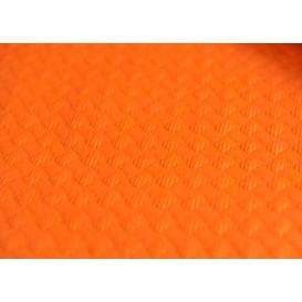 Voorgesneden papieren tafelkleed oranje 40g 1x1m (400 eenheden)